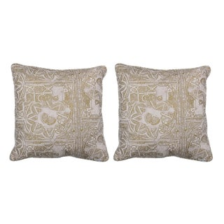 "Tulu Gold ""Timor"" 18""x18"" Pillows - Pair"
