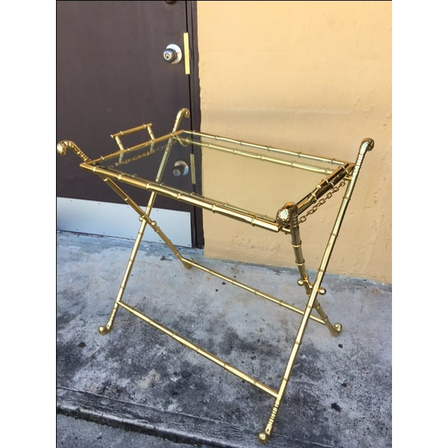 Contemporary Brass Bar Table - Image 2 of 8