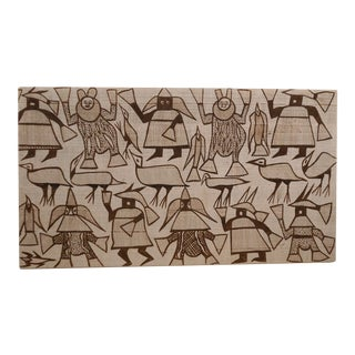 African Mounted Textile Wall Hanging