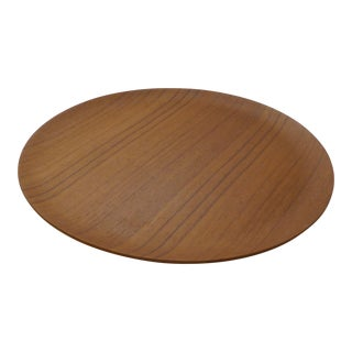 Mid-Century Danish Modern Teak Wood Round Platter