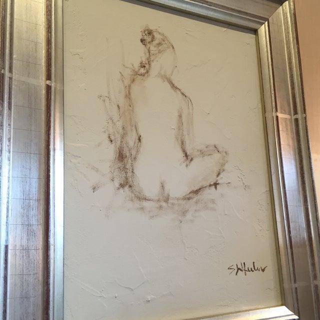 Stephanie Wheeler Framed Nude Figure Painting - Image 4 of 4