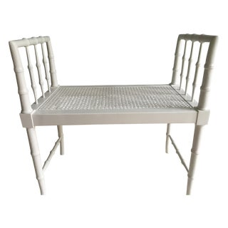 Faux Bamboo Bench Seat