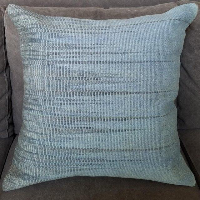 Vintage Geometric Turkish Rug Pillow - Image 2 of 6
