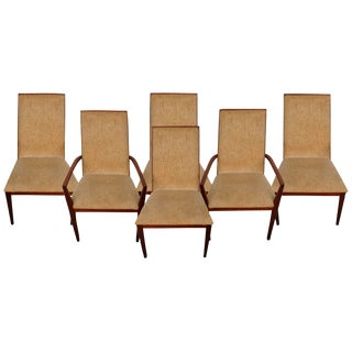 Dillingham Mid-Century Walnut Dining Chairs - Set of 6