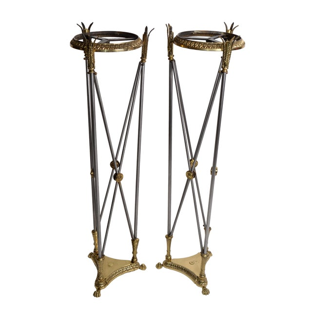 Image of Hollywood Regency Planter Stand - A Pair