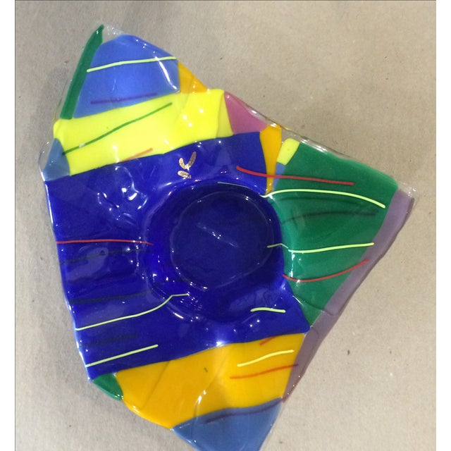 Memphis Studio Art Glass Bowl - Image 4 of 6