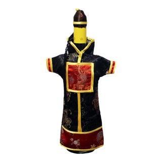 Black & Red Wine Bottle Cover