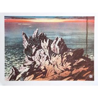 John Sherrill Houser Sunset Seascape Lithograph