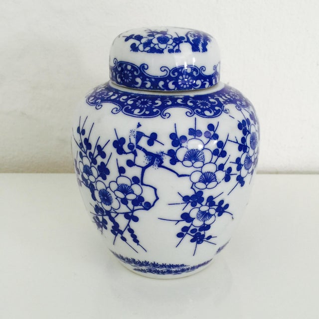 Mini Chinoiserie Blue & White Ginger Jar - Image 5 of 7