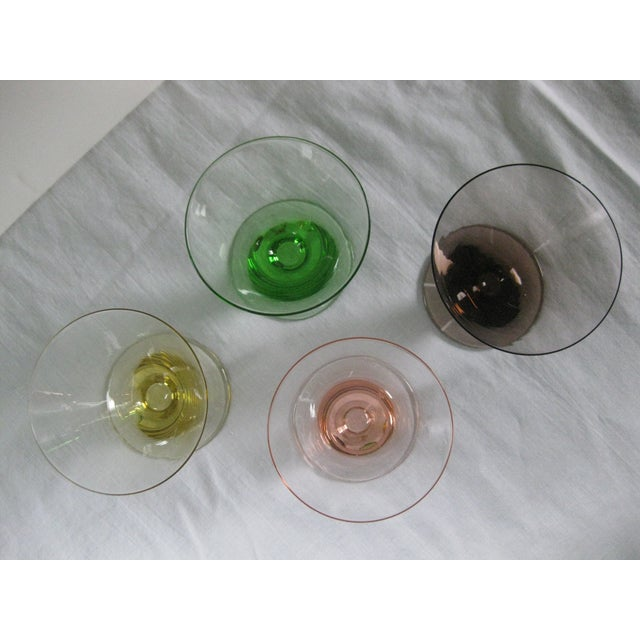 Vintage Multi-Colored Cocktail Glasses - 23 Pieces - Image 9 of 11