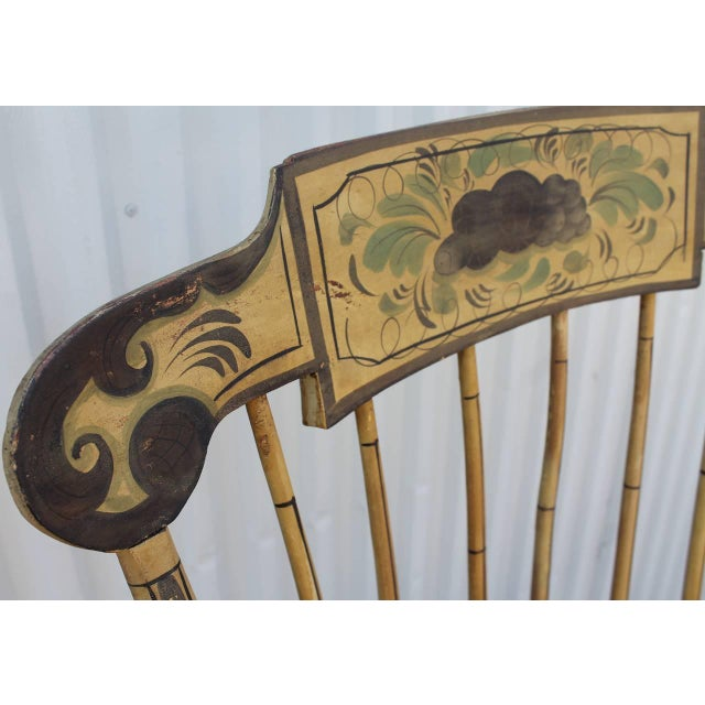 19th Century Fancy Original Painted Rocking Chair from New England - Image 5 of 10