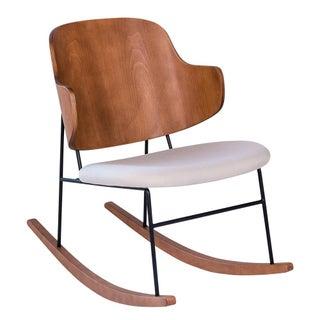 Koford Larsen Inspired Beige Penguin Rocking Chair