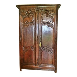 18th C. French Carved Armoire