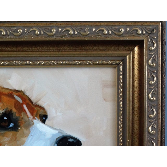 Beagle Dog Oil on Canvas Portrait Painting - Image 4 of 7