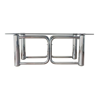 Mid-Century Modern Chrome Coffee Table