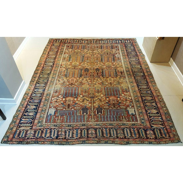 Antique Islamic Heriz Persian Rug - 9′ × 12′ - Image 2 of 10
