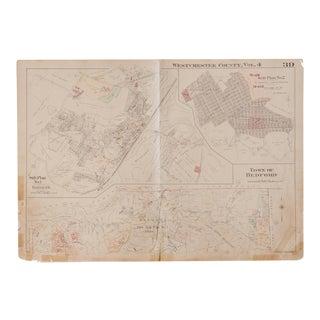 Vintage Hopkins Map of Bedford Katonah Indian Hill