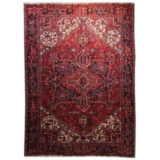 Vintage Persian Heriz Rug - 7′1″ × 10′10″