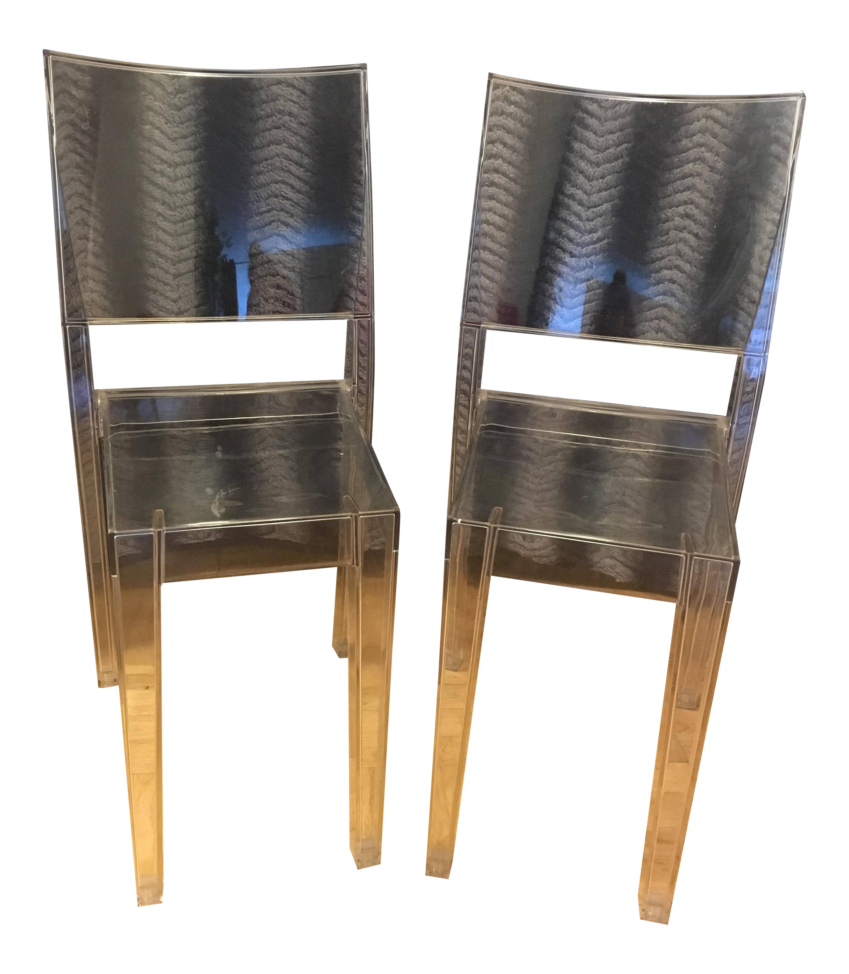 Philippe Starck For Kartell La Marie Lucite Chairs   A Pair