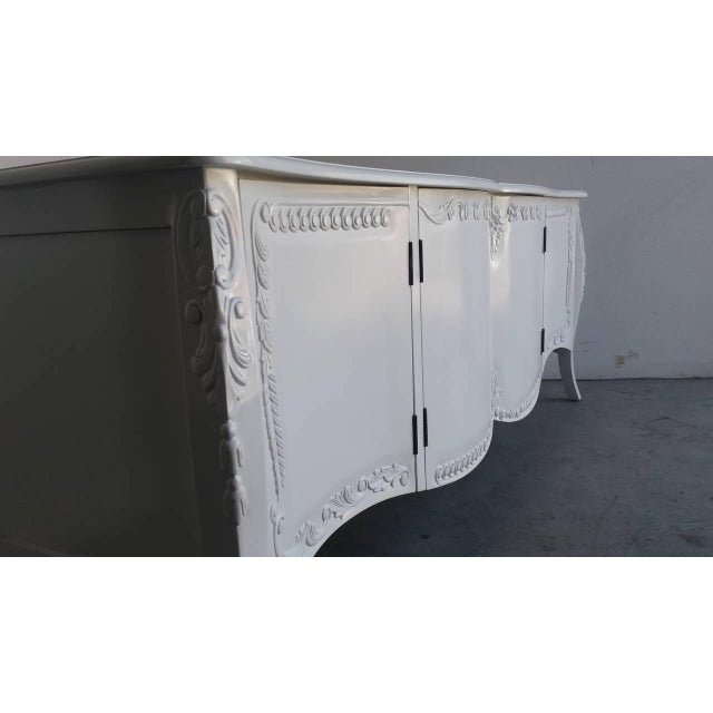 Image of French Provincial Farmhouse Style White Buffet