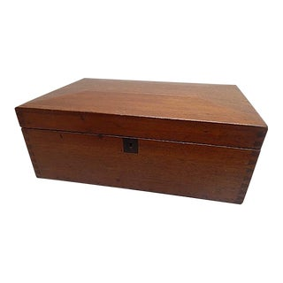 Antique Mahogany Hand Made Box