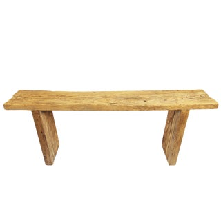 Rustic Elm Plank Console Table