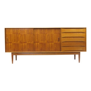 Handcrafted Solid Teak Credenza with Exposed Joinery