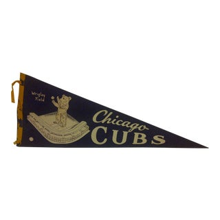 Vintage MLB Chicago Cubs Wrigley Field Baseball Team Pennant