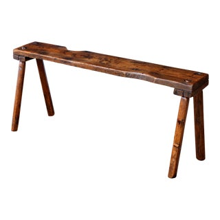 19th Century Primitive Oak Bench