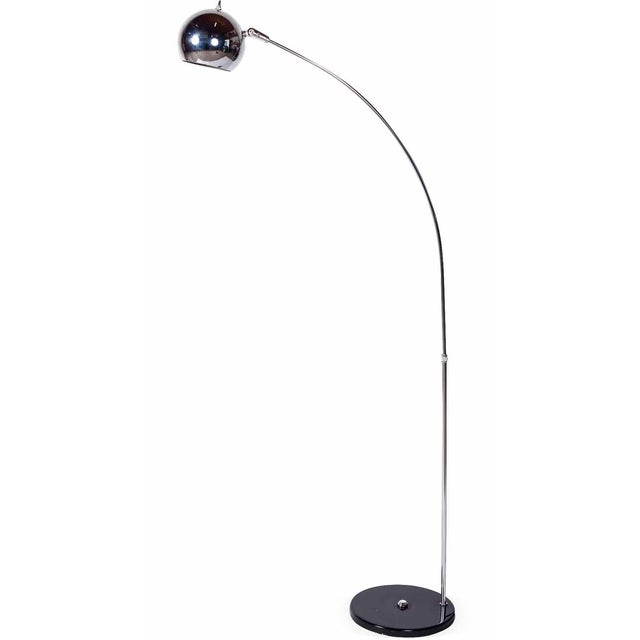 elegant sonneman chrome ball arc floor lamp chairish. Black Bedroom Furniture Sets. Home Design Ideas