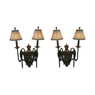 Maitland Smith Electrified Bronze Sconces - Pair