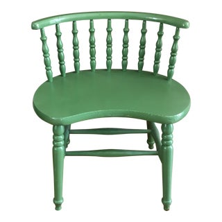 Vintage Rustic Painted Petite Wood Bench, Chair