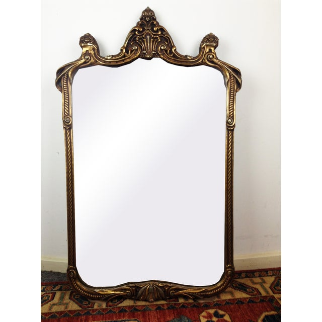 Gilded Art Nouveau Wall Mirror | Chairish