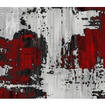Image of Red Abstract Rug - 5'x7'7""