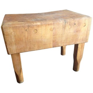 New York Meat Market Antique Butcher Block