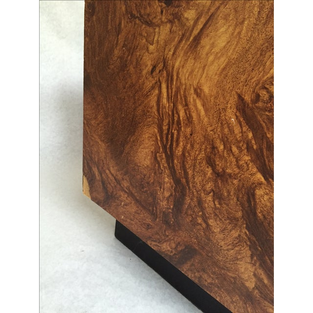 Vintage Burl Wood Cube Tables - A Pair - Image 5 of 10