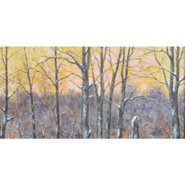 Winter Impressionist Painting of Central Park - Image 7 of 8