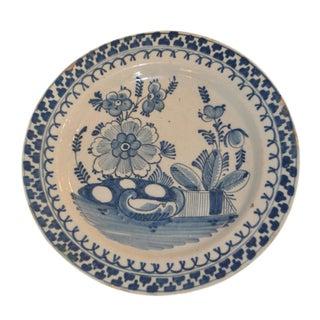 Blue & White English Delft Plate