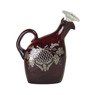 Vintage Ruby Liquor Decanter