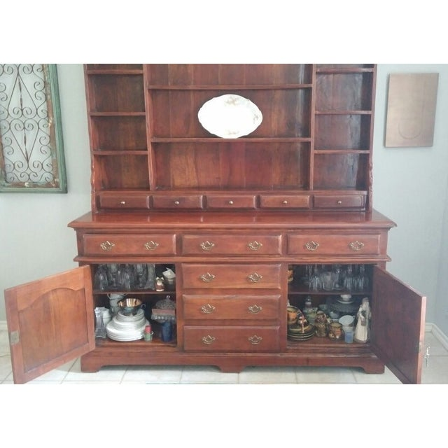 Image of Theodore Alexander Solid Walnut Open China Cabinet