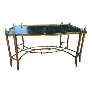 Gilded Bamboo Leg Coffee Table