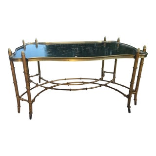 Gilded Bamboo Leg Coffee Table