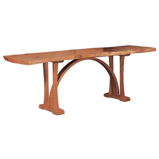 Live Edge Arch Base Dining Table