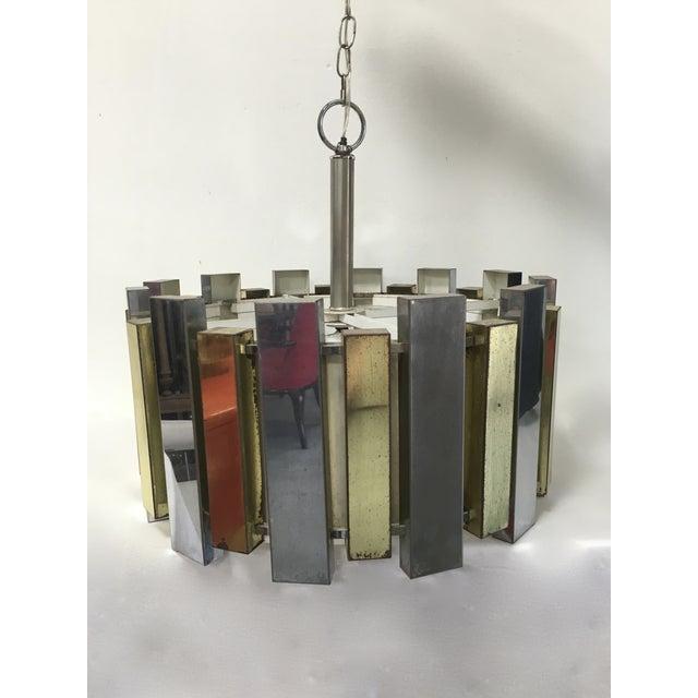 Mid-Century Brass Chandelier - Image 4 of 6