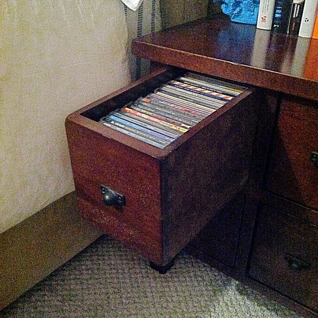 Image of Mahogany Wood 4-Drawer Apothecary Side Table