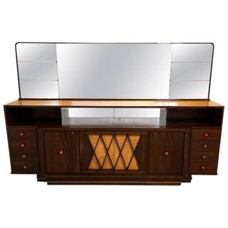 Monumental Italian Sideboard and Mirror by Osvaldo Borsan