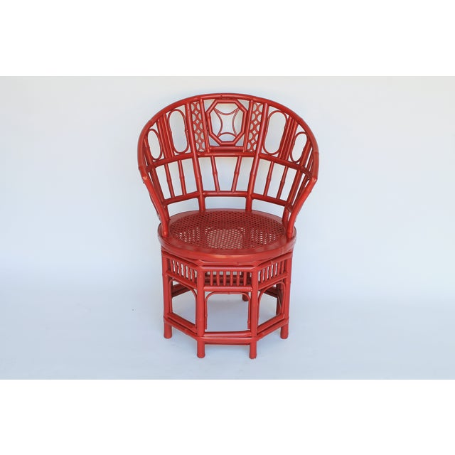 Bamboo Accent Chair W/ Nautical Theme - Image 6 of 9