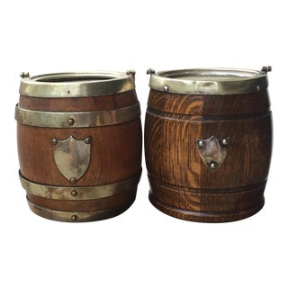 Antique Biscuit Barrel Jars- A Pair