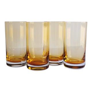 Yellow Highball Glasses, Set of 4