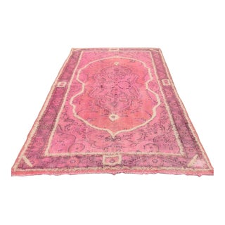 Pink Vintage Turkish Rug - 6″ × 9″